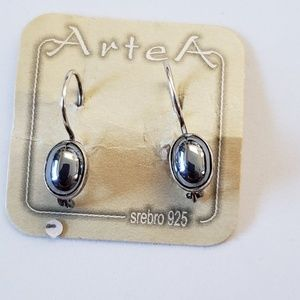 Stirling silver hematite earrings.